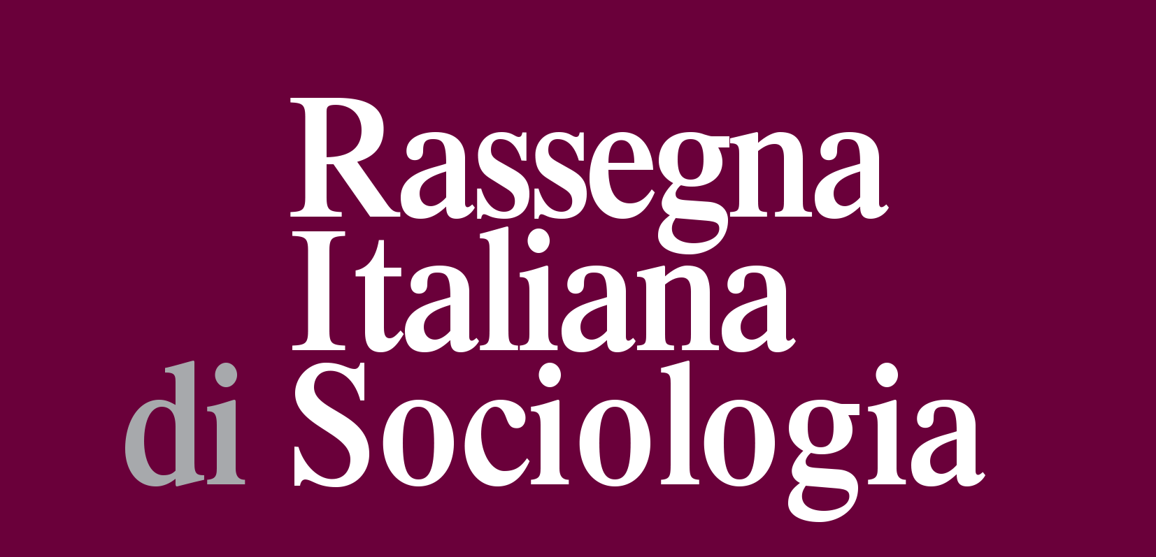 Logo Rassegna Italiana di Sociologia